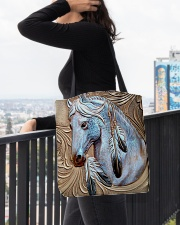Horse Native Vintage All-over Tote aos-all-over-tote-lifestyle-front-05
