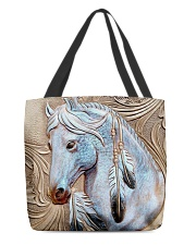 Horse Native Vintage All-over Tote back