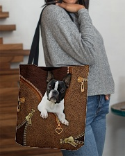 Boston Terrier  All-over Tote aos-all-over-tote-lifestyle-front-09