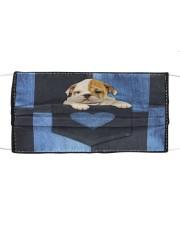 English Bulldog - Love Denim Pocket Cloth face mask thumbnail