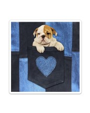 English Bulldog - Love Denim Pocket Sticker - Single (Vertical) thumbnail