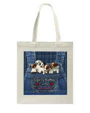 Jack Russell Life  Is Better  Tote Bag thumbnail