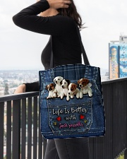 Jack Russell Life  Is Better  All-over Tote aos-all-over-tote-lifestyle-front-05