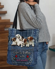 Jack Russell Life  Is Better  All-over Tote aos-all-over-tote-lifestyle-front-09