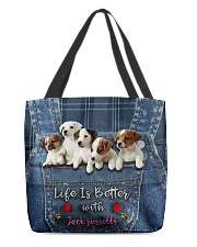 Jack Russell Life  Is Better  All-over Tote back