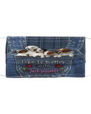 Jack Russell Life  Is Better  Cloth face mask thumbnail