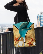 Animal - Dolphin All-over Tote aos-all-over-tote-lifestyle-front-05