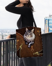 Maine Coon Cat  All-over Tote aos-all-over-tote-lifestyle-front-05