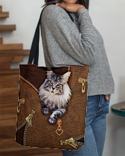 Maine Coon Cat  All-over Tote aos-all-over-tote-lifestyle-front-09