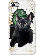Black Cat Crack Phone Case Phone Case tile