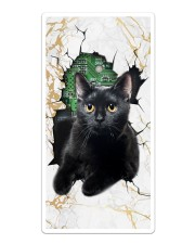 Black Cat Crack Phone Case Sticker tile