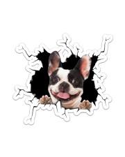 French Bulldog Crack Sticker - Single (Vertical) front