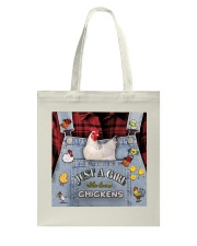 Just A Girl Who Loves Chicken Tote Bag thumbnail