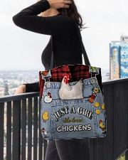 Just A Girl Who Loves Chicken All-over Tote aos-all-over-tote-lifestyle-front-05
