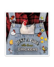 Just A Girl Who Loves Chicken Sticker - Single (Vertical) thumbnail