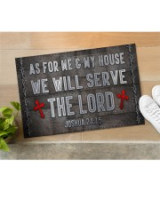 """Jesus Me My House Serve The Lord Doormat 22.5"""" x 15""""  aos-doormat-22-5x15-lifestyle-front-11"""