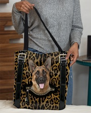 German Shepherd - Leopard - Zip Pocket All-over Tote aos-all-over-tote-lifestyle-front-10