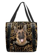 German Shepherd - Leopard - Zip Pocket All-over Tote back