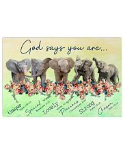 Elephants God Says You Are 17x11 Poster front
