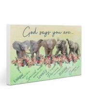 Elephants God Says You Are 30x20 Gallery Wrapped Canvas Prints thumbnail