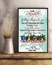 Turtle - To My Daughter 11x17 Poster lifestyle-poster-3