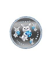 Blue Pig Circle Magnet thumbnail