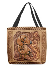 Dachshund All-over Tote back