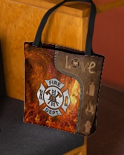 Firefighter Silver Love Tote All-over Tote aos-all-over-tote-lifestyle-front-02