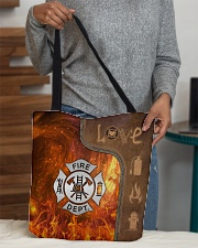 Firefighter Silver Love Tote All-over Tote aos-all-over-tote-lifestyle-front-10
