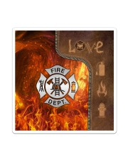 Firefighter Silver Love Tote Sticker - Single (Vertical) thumbnail
