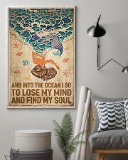 Ocean - Vintage Mermaid 11x17 Poster lifestyle-poster-1