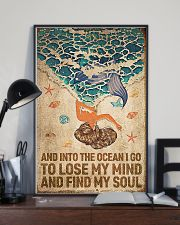 Ocean - Vintage Mermaid 11x17 Poster lifestyle-poster-2