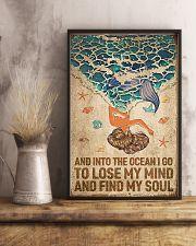 Ocean - Vintage Mermaid 11x17 Poster lifestyle-poster-3