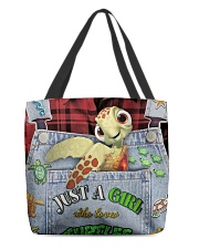 Just A Girl Who Loves Turtles All-over Tote back