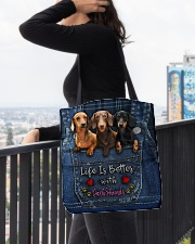 Dachshund Life Is Better All-over Tote aos-all-over-tote-lifestyle-front-05