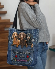 Dachshund Life Is Better All-over Tote aos-all-over-tote-lifestyle-front-09