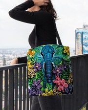 Elephant Quilling  All-over Tote aos-all-over-tote-lifestyle-front-05