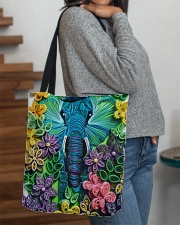 Elephant Quilling  All-over Tote aos-all-over-tote-lifestyle-front-09