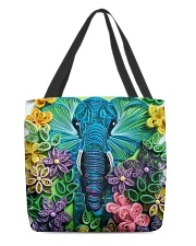 Elephant Quilling  All-over Tote back