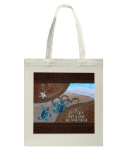 A girl who loves turtles Tote Bag thumbnail