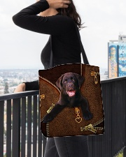 Chocolate Labrador All-over Tote aos-all-over-tote-lifestyle-front-05