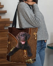 Chocolate Labrador All-over Tote aos-all-over-tote-lifestyle-front-09