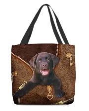 Chocolate Labrador All-over Tote front