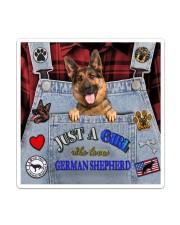 Just A Girl Who Loves German Shepherd Sticker - Single (Vertical) thumbnail