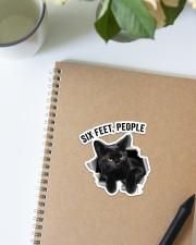 Cat Six Feet People St Sticker - Single (Vertical) aos-sticker-single-vertical-lifestyle-front-16
