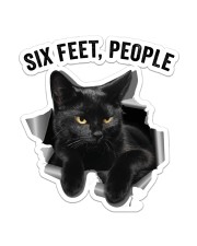 Cat Six Feet People St Sticker - Single (Vertical) front
