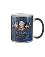 English Bulldog Life Is Better Tote Bag  Color Changing Mug thumbnail