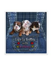 English Bulldog Life Is Better Tote Bag  Sticker - Single (Vertical) thumbnail