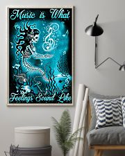 Mermaid - Music is What Feelings Sound Like 11x17 Poster lifestyle-poster-1