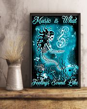 Mermaid - Music is What Feelings Sound Like 11x17 Poster lifestyle-poster-3